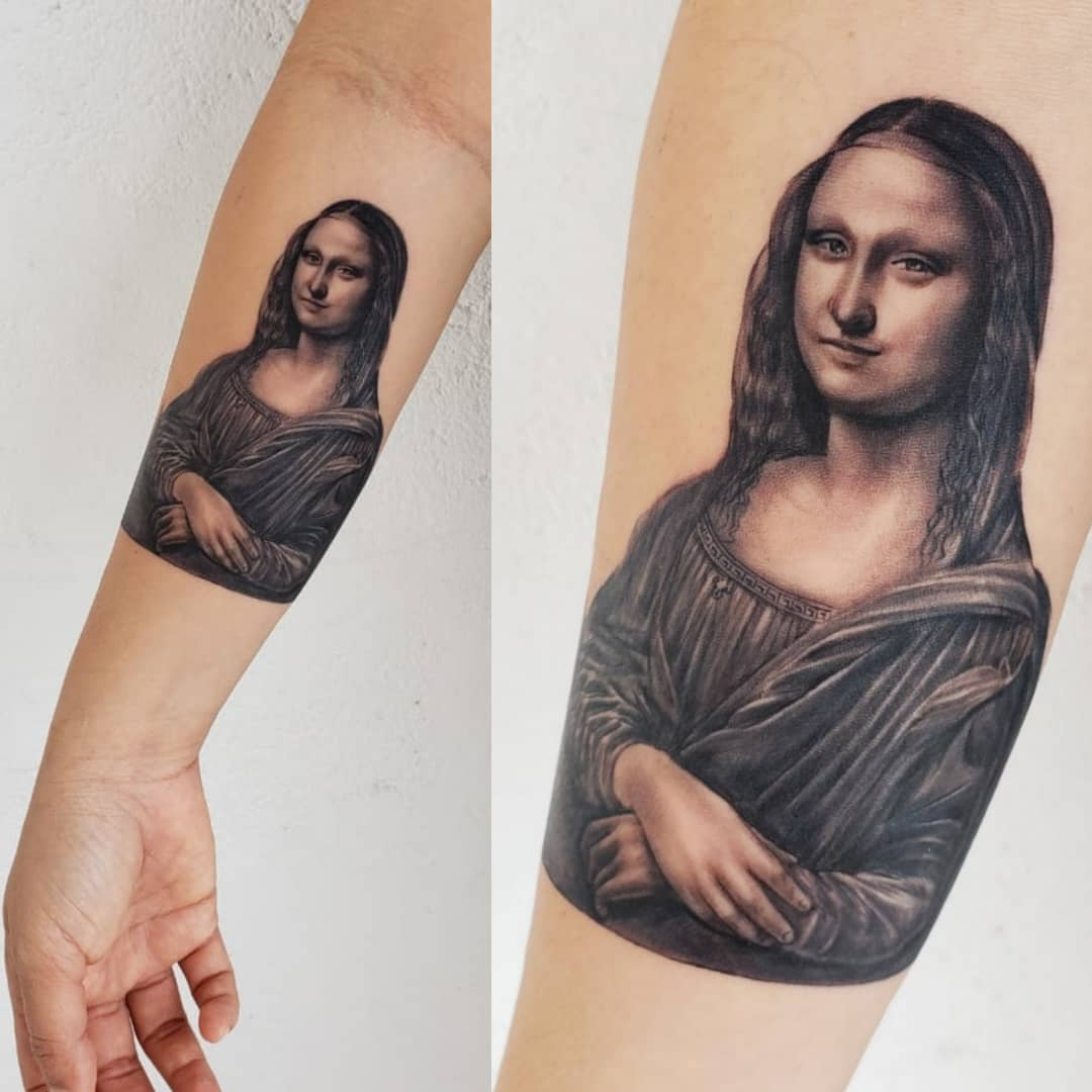 Mona LIsa on Arm
